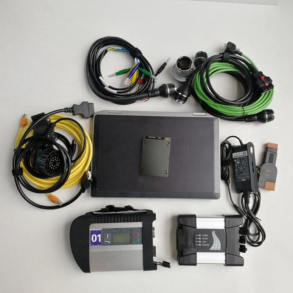 Expert mode Automotivo Repair diagnostic tool Used laptop computer E6420 I5 4G+MB Star C4 SD Connect C4+Icom next a+b+c for BMW+1tb SSD