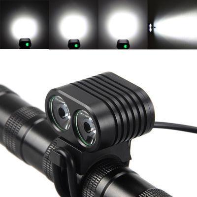 8000Lumen XM-L2 LED Vélo Phare Vélo Lumière Vélo Avant Lampe Phare 4 Modes Rechargeable Vélo Lampe De Poche Torche Vélo Accessoires