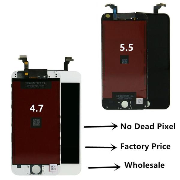 Per Iphone 6 Iphone 6 plus LCD No Dead Pixel Touch Screen Digitizer Display Assembly con telaio parti di riparazione dello schermo del cellulare