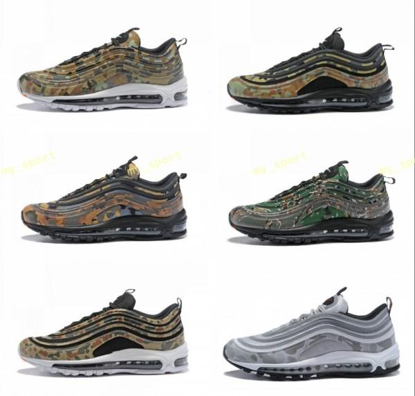 reputable site d0597 c328c 97 Country Camo Japan Italy UK Army Green Running Shoes Men 97s Camouflage  Ultra Bullet 3M Premium Zoom Trainers Sneakers 40 46 Best Running Shoes For  ...