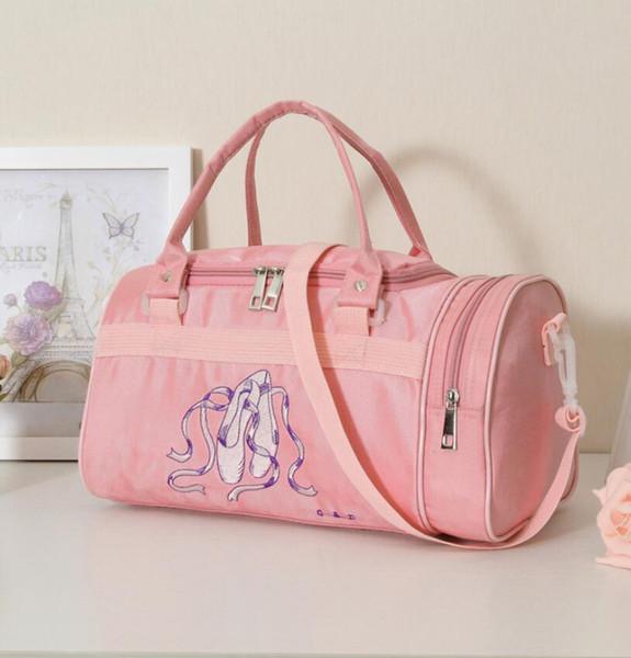 Discount Child Dance Bag Female Adult Dance Backpack Infant Kids Bucket Ballet Bag For Girls Canvas Pink Ballerina Kids Handbag