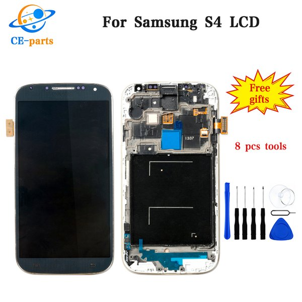 Grade AAA For Samsung Galaxy S4 i337 i9505 i9500 m919 LCD Display Touch Screen Assembly Replacement Parts With Frame for Samsung S4 Panel