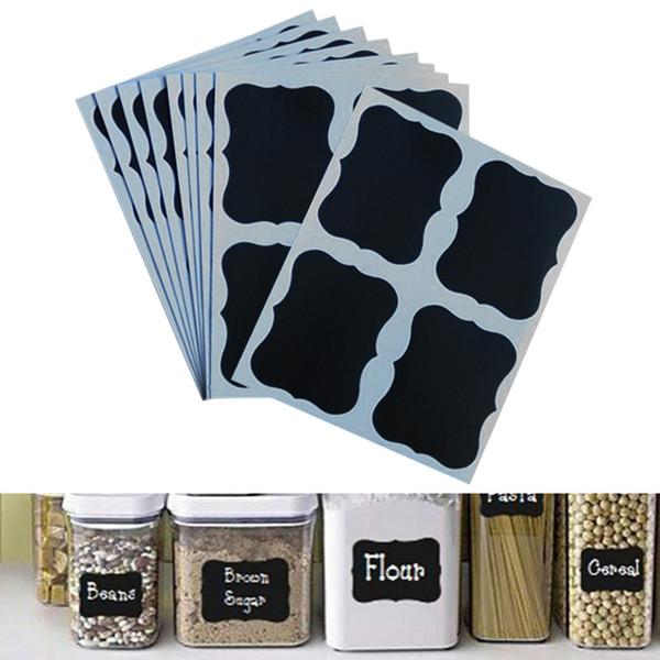 36 Pcs/Set Black Board Sticker Home Decor Blackboard Stickers Craft Kitchen Jar Organizer Can Labels Chalkboard J2Y