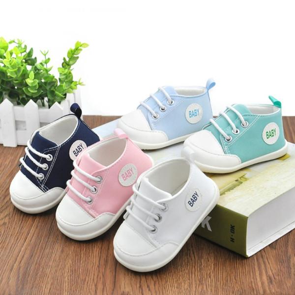 İlkbahar Yaz Yenidoğan Bebek Erkek Kız Beşik Ayakkabı İlk Walkers Bebek Öncesi Yürüyüşe kaymaz Sneakers Ayakkabı J2