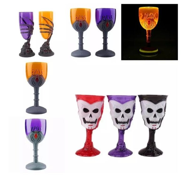 New Wine Cup Claw Party Spooky Squelette Crâne Halloween Goblet LED Scary Cup Ameublement D'ameublement
