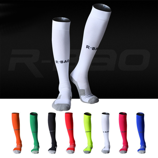 8 Color Outdoor Sports Football Socks Stocking Warmers Breathable Thicken Knee-high Compression Soccer Cycling Socks Professional H105S