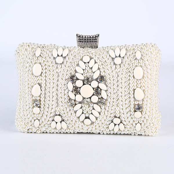 Purses Mantian Flower con strass Crystal Evening Clutch Bags Beading Handbag 147-28