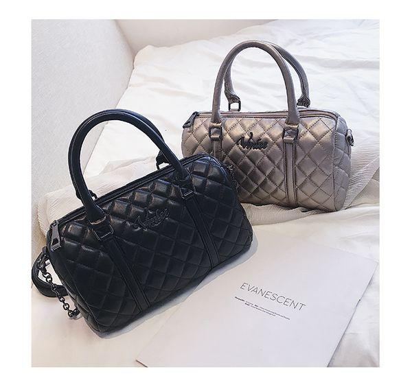 Ladies Hand Bags Famous Brand Bags Handbags Women Fashion Black Pu Leather Pochette Casual Shoulder Bag