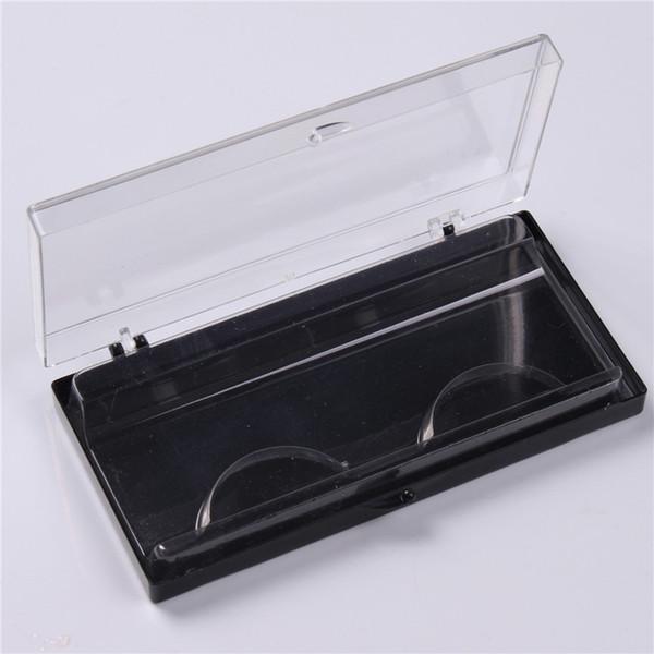 3pcs Plastic Eyelash Storage Case Packing Box Transparent Lid black Tray for Grafted eyelashes
