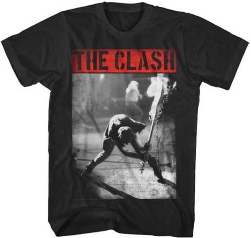 The Clash Smashing Guitar S, M, L, XL und 2XL Schwarzes T-Shirt
