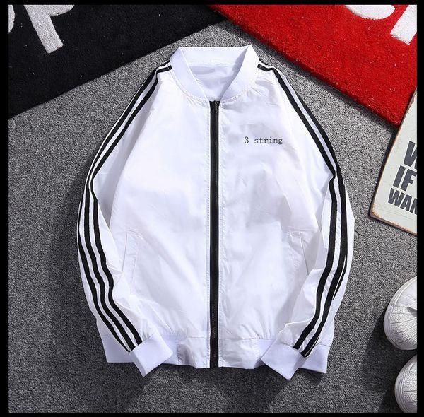 Hot Sale Mens Jackets Solid Color Windbreaker Cool Mens Designer Jackets Stand Collar Sport Coat for Men Spandex Zipper Size M-5XL