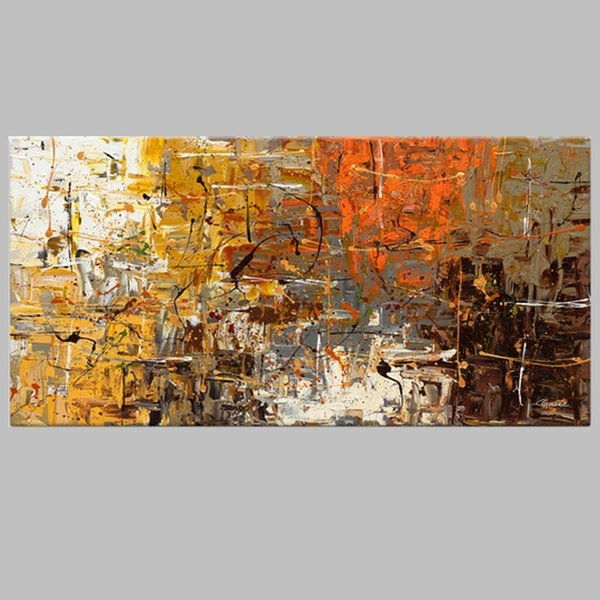 Unframed Picture Painting Abstract Oil Paintings on Canvas Handmade Colorful Wall Art Modern Art for Home Decor