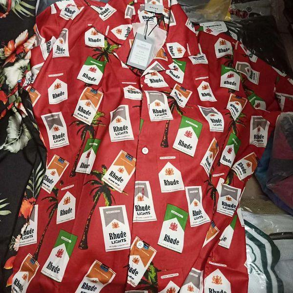 Vintage Holiday Style Short Sleeves Shirts Cigarette Case Print Luxury Men Women Summer Beach T Shirts Fashion Casual Street Tee HFYMTX212