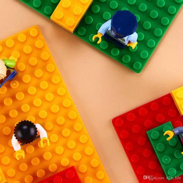 Colorido Placa de Base Dupla Lateral Construção Compatível Blocos de Construção 32 * 32 Dots Tijolos Mat Placa Bricks Toy DIY 25 * 25 CM FFA178 30 PCS