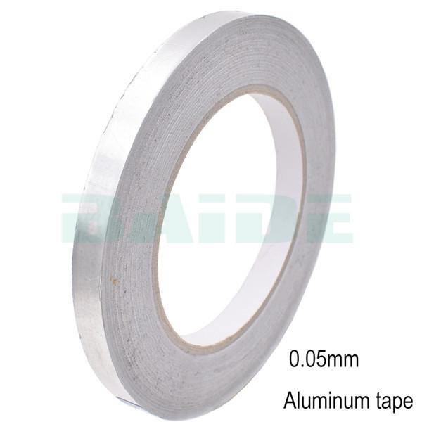 Il nastro adesivo della condotta di sigillamento del foglio di alluminio di 30/40/50 / 60mm termina il nastro adesivo laterale ad alta temperatura resistente dello stagnola