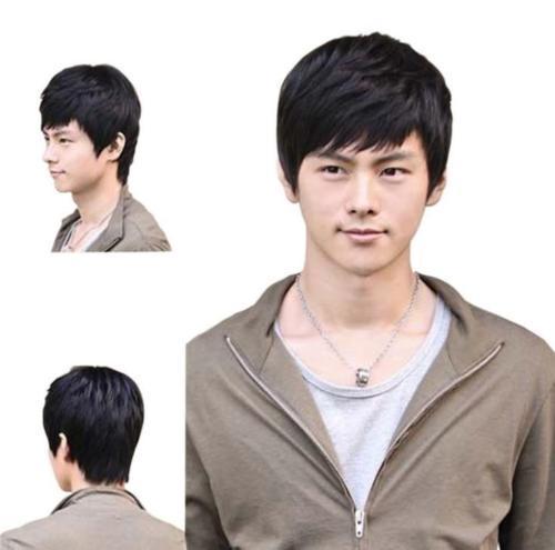 Short Black or Brown Men Straight Fashion Hair Full Fashion Wig Cosplay Wig