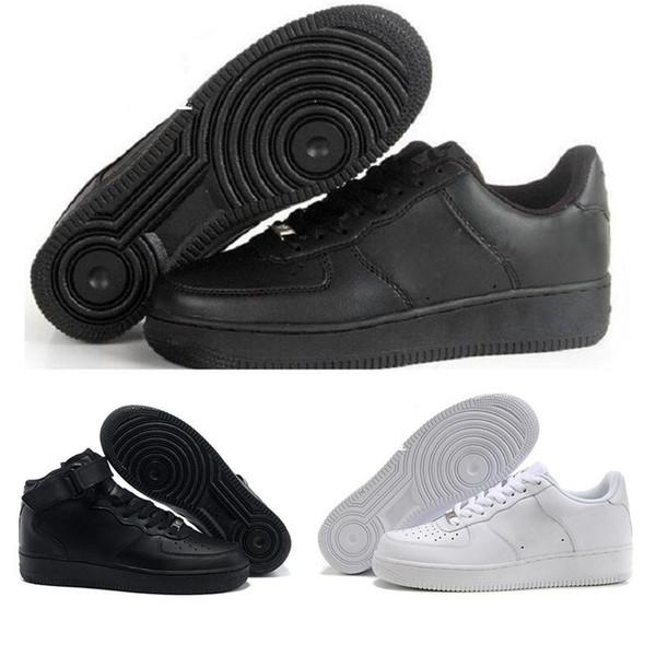 Nike Air Force 1 2018 Yüksek Kaliteli Moda Forking CORK Erkekler Kadınlar Bir 1 Koşu Ayakkabıları yüksek Düşük Kesim Tüm Beyaz Siyah Kahverengi Renk Rahat Sneakers Boyutu 36-46