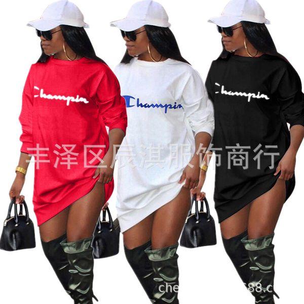 Casual Dress 2018 Femmes Dames Robes T-shirt Jupes D'été Automne Style Moulante De La Rue De La Rue D'usure D'impression