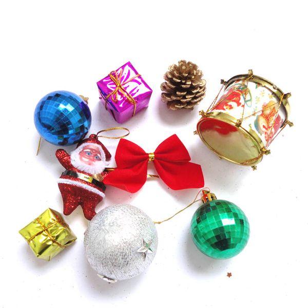 8pcs/lot Santa Claus Pendant Christmas Tree Ornaments Festival Party Home Decor Navidad Decoracion Xmas Decoration XHC88