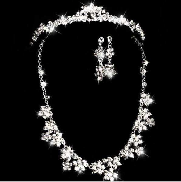 Braut Halskette, Legierung Glas, Diamantbohrkette, Braut Krone, koreanische Version, Braut Kopfbedeckung