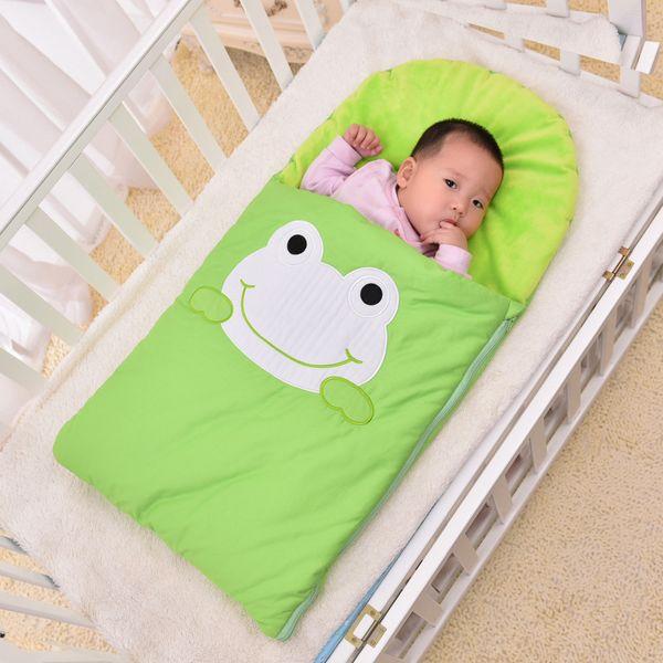 2017 Winter Newborn Baby Boy/Girl Cute Frog Seeping Bag for Unisex Baby Bedding, Stroller & Swaddle