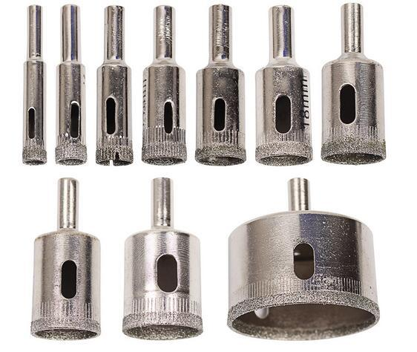 Новый 10 шт. / компл. 8-50 мм с алмазным покрытием Core отверстие увидел сверла инструмент резак для плитки мрамор стекло Гранит бурения Лучшая цена