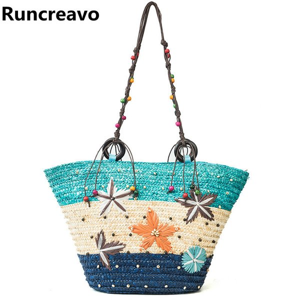 Famous Brand Ladies Rattan Beach Bag Summer Crossbody Bags For Women 2018 Luxury Handbags Women Bags Designer Wicker Straw Bag