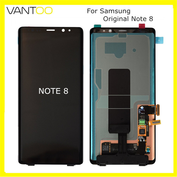 Dhl From Frame Screen 100 Lcd 2020 Samsung N950 For With 255 Digitizer Super 8 08 Galaxy Touch Vantoo Display Amoled Note Replacement Original