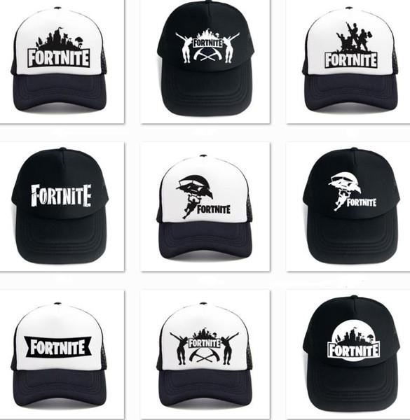 Fortnite Cap 2018 New Fashion Fortnite Logo Print Popular Game Baseball Hat Black white Designer Hats Fortnite Caps