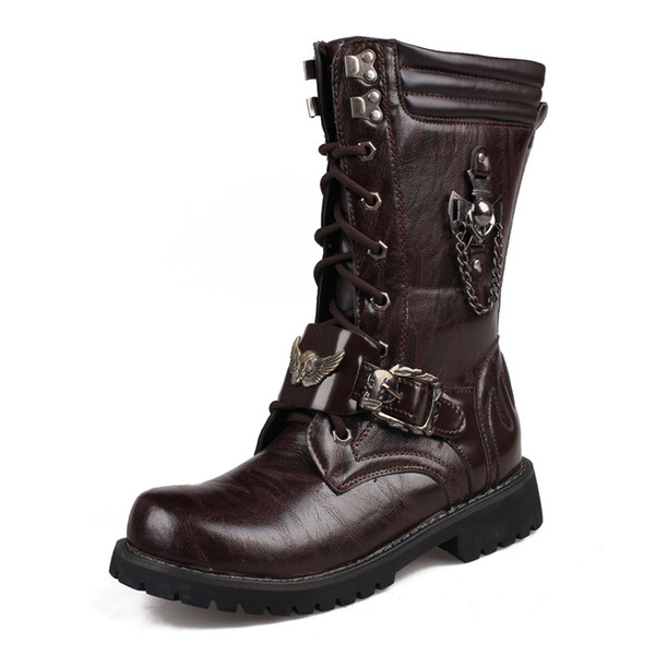 winterstiefel leder fell outdoor