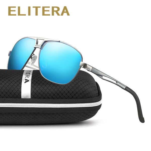 c83359b0194fd ELITERA Marca Design Unisex Retro Vintage Óculos De Sol Lente Polarizada  Óculos Acessórios de Condução Óculos