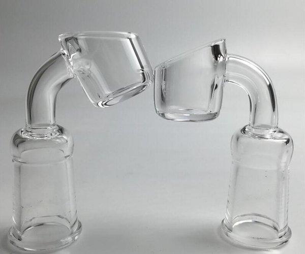 3mm de espessura quartzo banger com 10mm 14mm masculino feminino pescoço curto quartzo prego sem dom 45 graus 90 graus para a tubulação de água