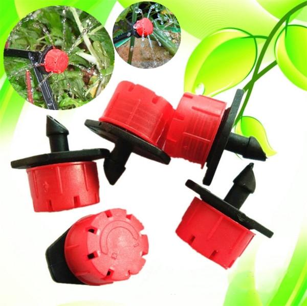 New Adjustable Gardening Micro Flow Drip Head Barb Irrigation Watering Dripper Sprinkler Pot For Greenhouse Watering Equipments I194