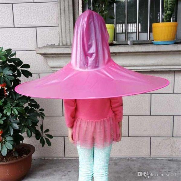 Regen Beweis Kappe Regenschirm Originalität Taschenschirme Fliegende Untertasse Form Sessile Kinder Hut Hochwertigem Kunststoff 7 4kn jj