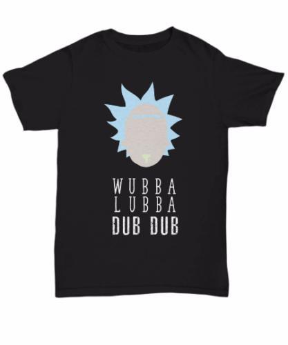 Wubba Lubba Dub Dub Shirt - T-shirt drôle Rick Morty - Cadeaux Rick Sanchez Cool Pride Casual T-shirt Hommes