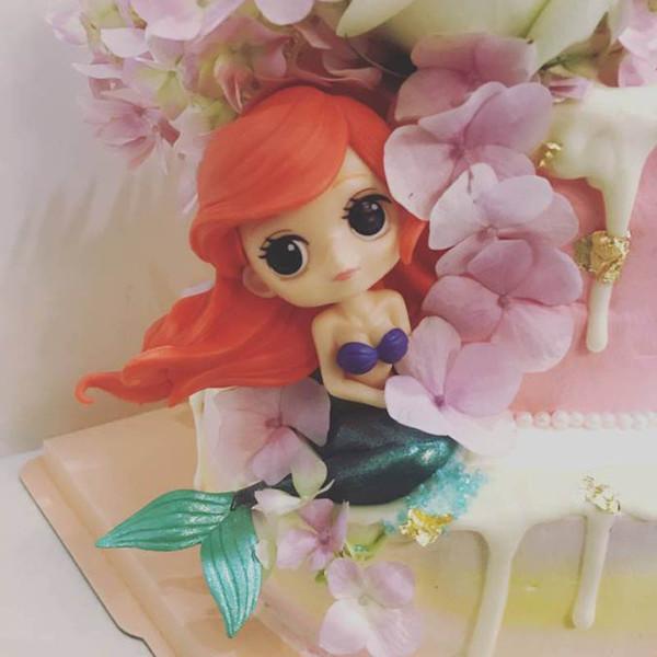Compre Princesa Cake Topper Blancanieves Alicia Figura De Sirena Decoración De Pastel Princesas Niñas Cumpleaños Toppers Fuentes De Fiesta A 33 6 Del