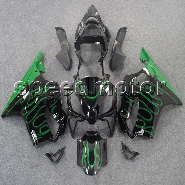 colors+Gifts Injection mold green flames CBR600 F4i 01-03 motorcycle cowl Fairing for HONDA CBR 600F4i 2001 2002 2003 ABS plastic kit