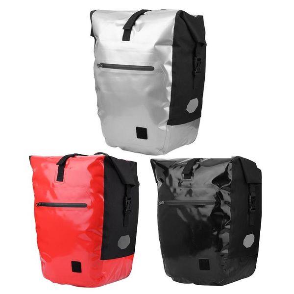3 colors Mountain Bike Rear Bag Waterproof Pannier Double Side Tail Seat Trunk Bag MTB Road Cycling Rack Cycling Equipment