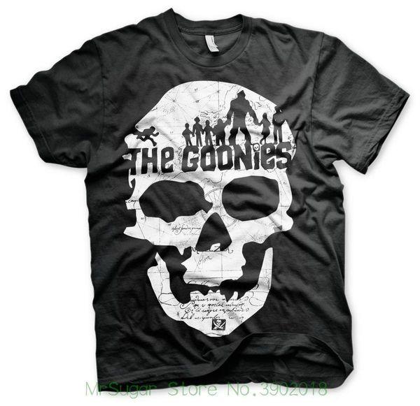 T-shirt The Goonies Cranio Logo Maglia Uomo By Hybris Nuovo arrivo Maschile T-shirt Casual Boy Tops Sconti