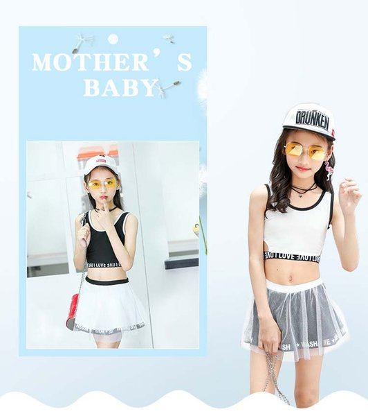Maillot de bain pour enfants fendu jupe maillot de bain enfants version coréenne de la couleur unie fils fil jupe fille maillot de bain