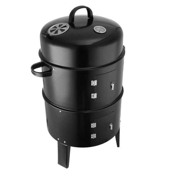 3in1 BBQ Grill Roaster Smoker Steamer Steel Portable Outdoor Charcoal Cooking cylinder barbecue bbq grill
