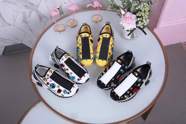 Zapatos de zapatillas de deporte Arena más nuevos Zapatos casuales de cuero con gradiente de los hombres Entrenadores Zapatos para caminar zapatos Zapatos 35-45 ML 02