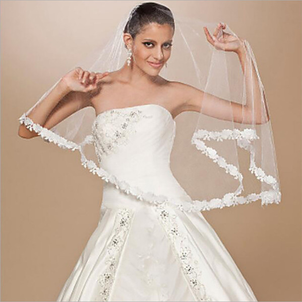 Sexy Design 1,5 metri da sposa bianco avorio velo Matrimonio Eventi Accessori One Piece HeadPieces Plain Appliques