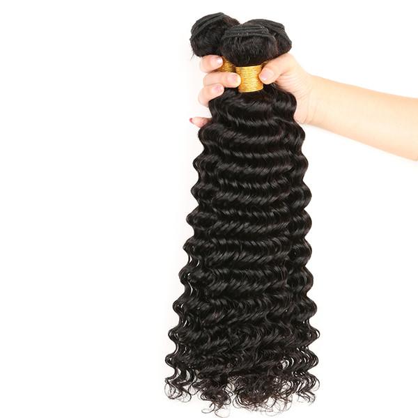 8A Grade Brazilian Virgin Hair Deep Wave Kinky Curly Body Wave Straight Double Weft Human Hair Peruvian Indian Malaysian Hair Extensions