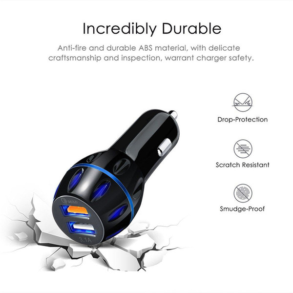 1pc USB QC3.0 Fast Car Charger Qualcomm Quick Charge 3.0 For iphone Samsung GPS 80 x 15 mm Car Charger