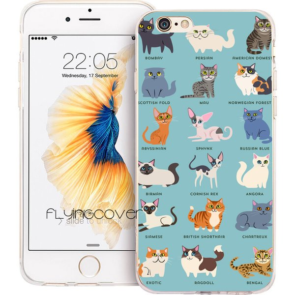 Cats Kittens Group Clear Soft TPU Silicone Phone Cover for iPhone X 7 8 Plus 5S 5 SE 6 6S Plus 5C 4S 4 iPod Touch 6 5 Cases.
