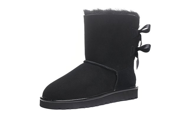 BlackTop winter Australia Classic snow fashion YOUGG boots tall real leather Baileyi bowknot women's bailey two bow Knee womens shoe