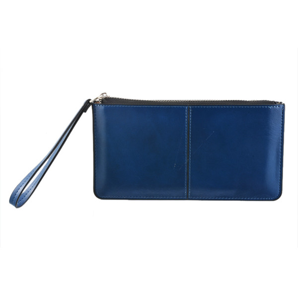 NIBESSER Daily Shopping Match Handtasche Dunkelblaue Handtasche Handtasche mit Handschlaufe Hohe Kapazität PU Leder Frauen Lange Brieftasche