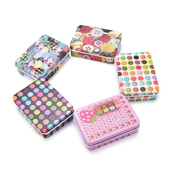 11 Art-Minizinn-Metallkasten Siegelglas-Verpackungs-Kasten-Schmucksachen, Süßigkeit-Kasten-kleines Speichermünzen-Ohrring-Kopfhörer-Geschenk