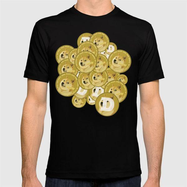 2018 nueva camiseta Tales monedas, tanto dogecoins camisa